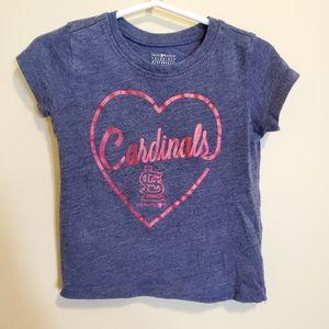 MLB | St. Louis STL Cardinals Foil Heart Tee 2T